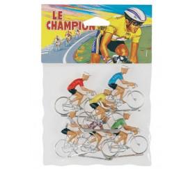 6 cyclistes vélo en plastique jouet