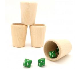 Gobelet en bois de 55 x 72 mm - verre ou lancer de dés