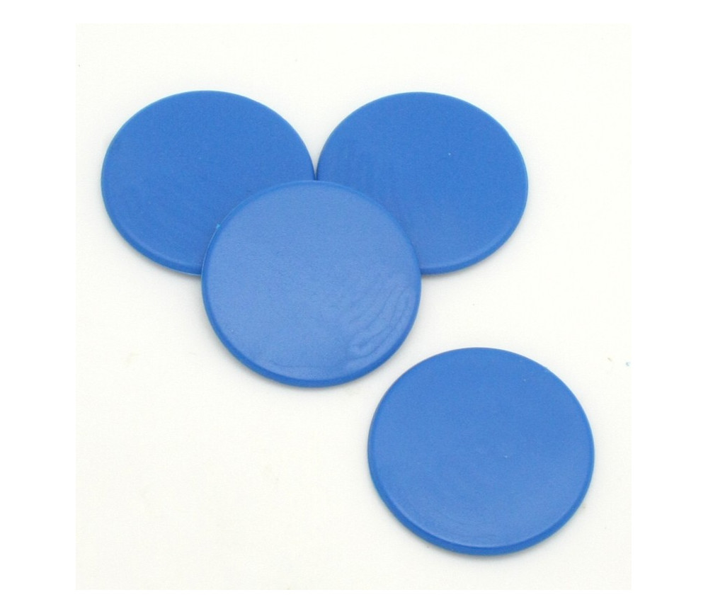 Jeton rond 38 mm de diamètre en plastique plat