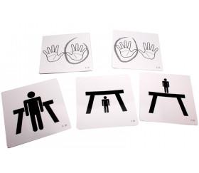 Cartes 15 cm pour dés personnalisés