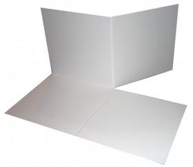 Plateau de jeux carré grand format pliable 50 x 50 cm blanc