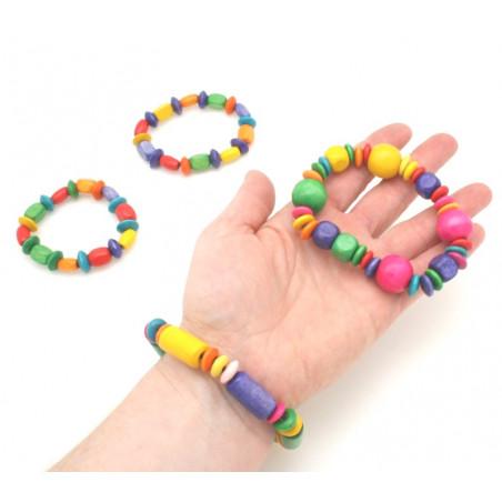 Bracelet en bois coloré taille enfant