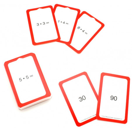 36 cartes multiplication x2 x3 x4 x5