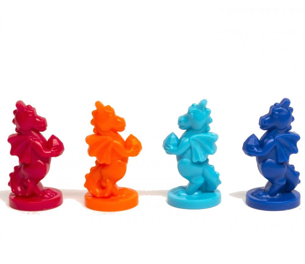 4 Pions dragons 38 x 18 mm en plastique pion de jeu à l'unité