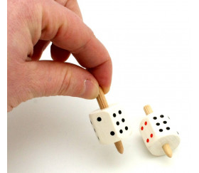 Toupie dé à jouer - toton 4 cm
