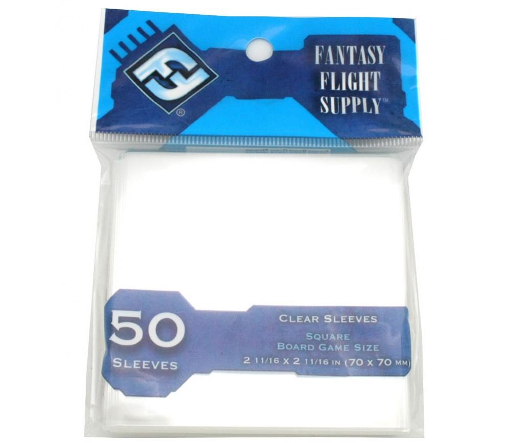 50 protèges cartes Carré 70 x 70 mm pochette sleeves square Tinmen
