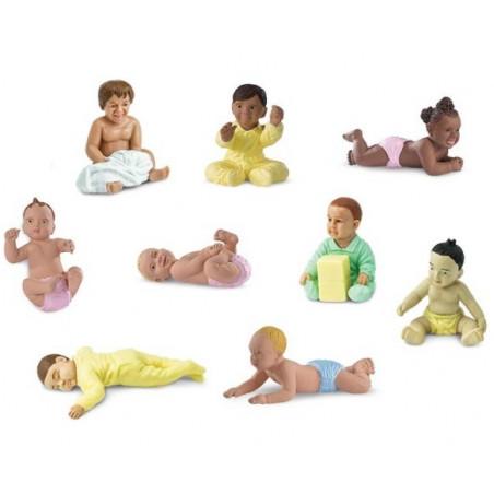 Bébé : 9 figurines de bébé environ 6 cm