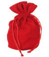 Bourse Sac velours standard 165 x 125 mm rouge