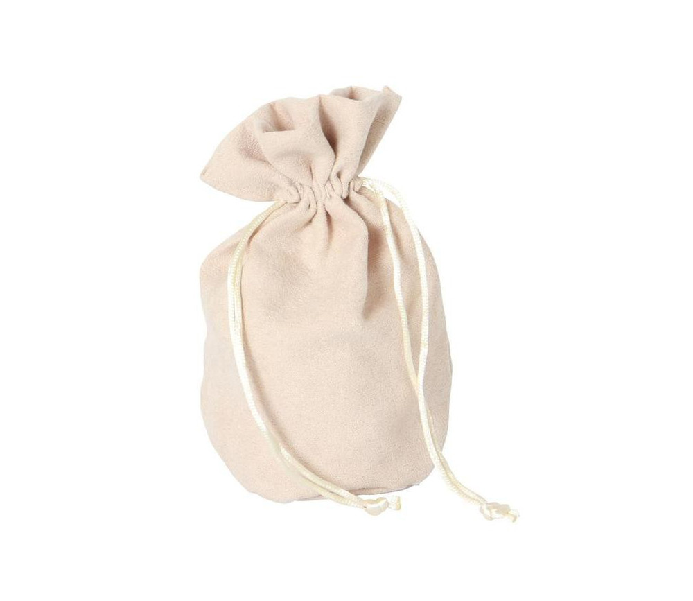 Bourse Sac velours standard 165 x 125 mm beige