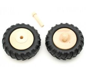 Axe 40 x 12 mm pour roue de tracteur - tenon corps d'essieu