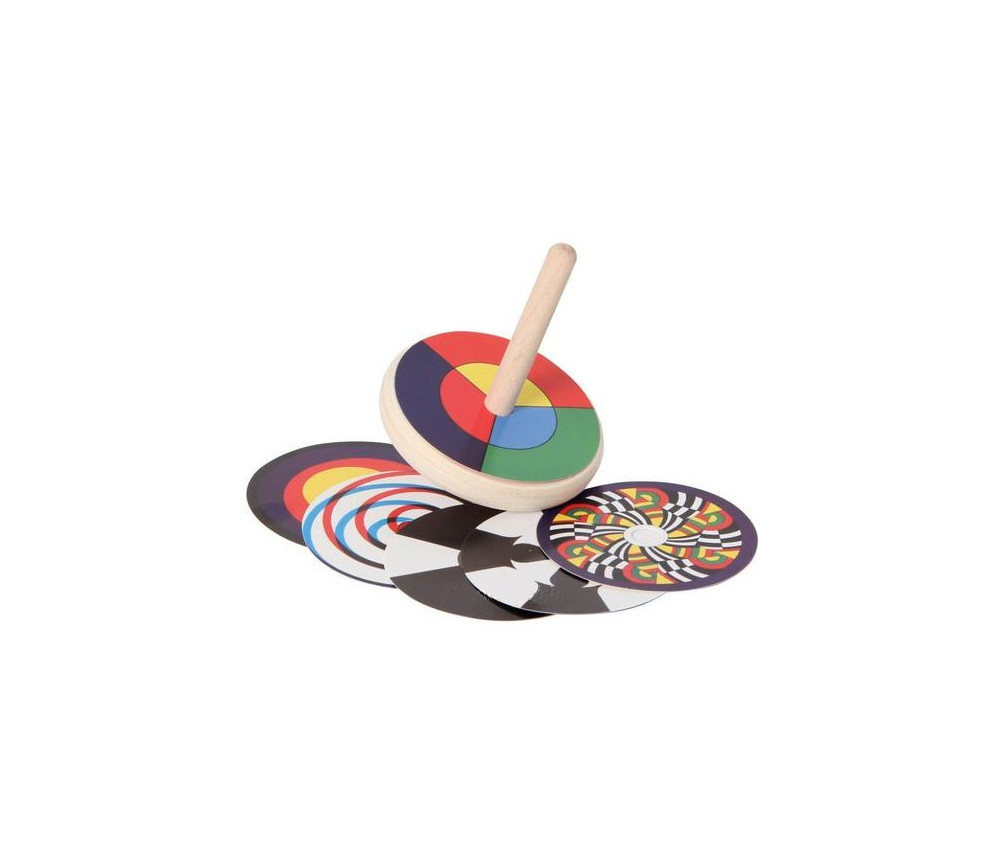 Grand toupie mélange de couleurs 8 cm