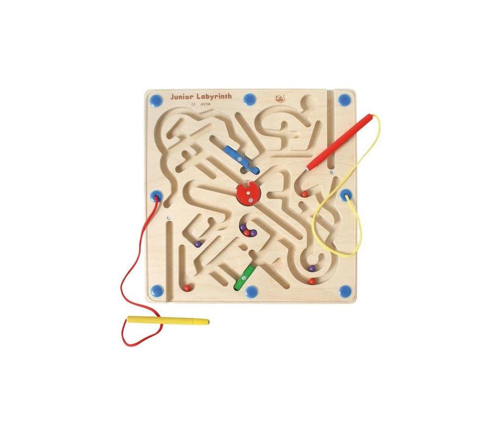 Labyrinthe en bois magnétique 30 cm
