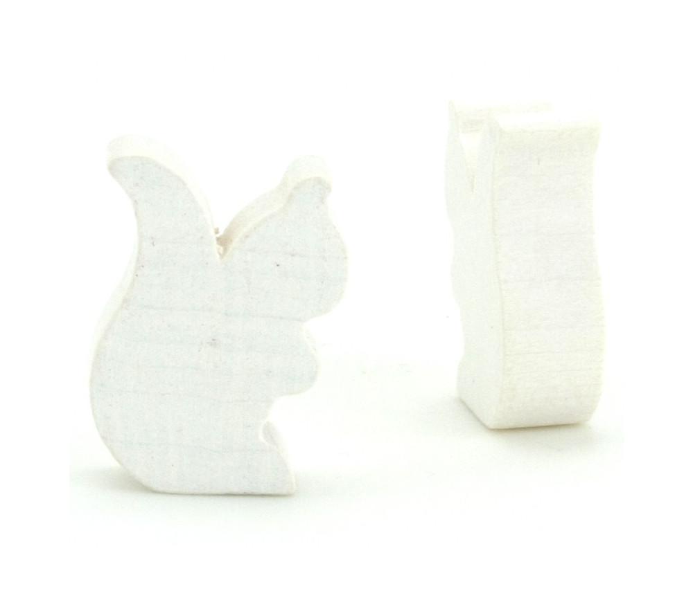 Petit écureuil en bois pion jeu de société blanc