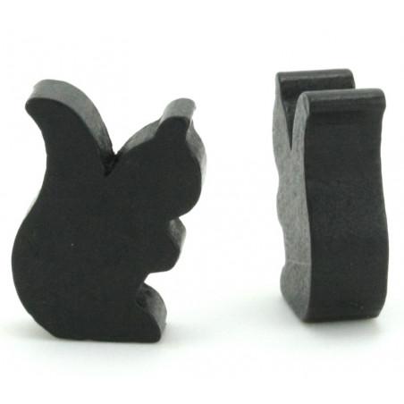 Petit écureuil en bois pion jeu de société noir