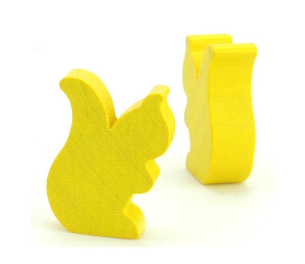 Petit écureuil en bois pion jeu de société jaune