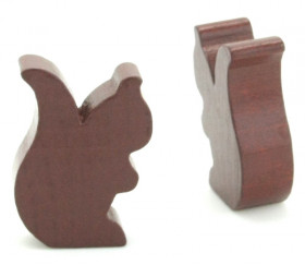 Petit écureuil en bois pion jeu de société marron brun