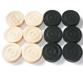 Set complet pions pour jeu de dames 32 mm