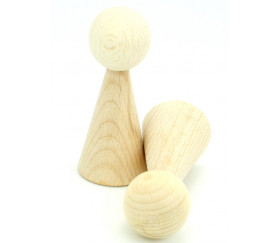 Pion bois XXL 10 cm pour jeu. Grand pion 100 mm diam 43 mm