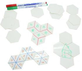 Tuile hexagone effaçable 50 mm réinscriptible à l'unité