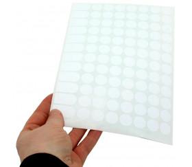Lot de 96 pastilles autocollantes blanches 15 mm