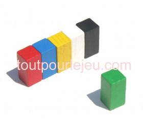 Pion rectangle 10x10x20 mm en bois pour jeu