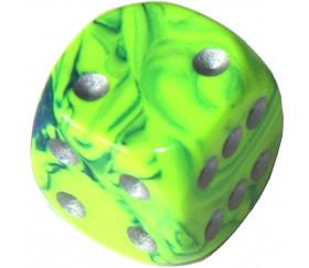 5 Dés designs effet artistique 15 mm vert clair peps