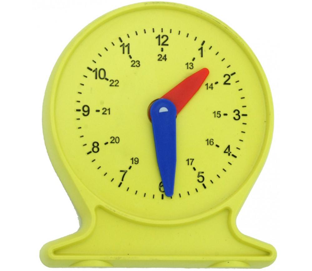 Horloge apprentissage aiguilles mobiles 12.5 x 11 cm