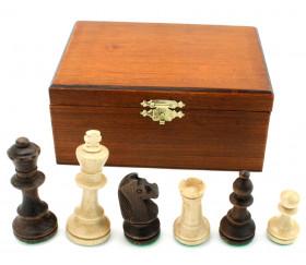 Pièces échecs bois plombées lestées coffret bois taille 3 luxe