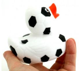 Canard en plastique football 8.5 cm - canard de bain