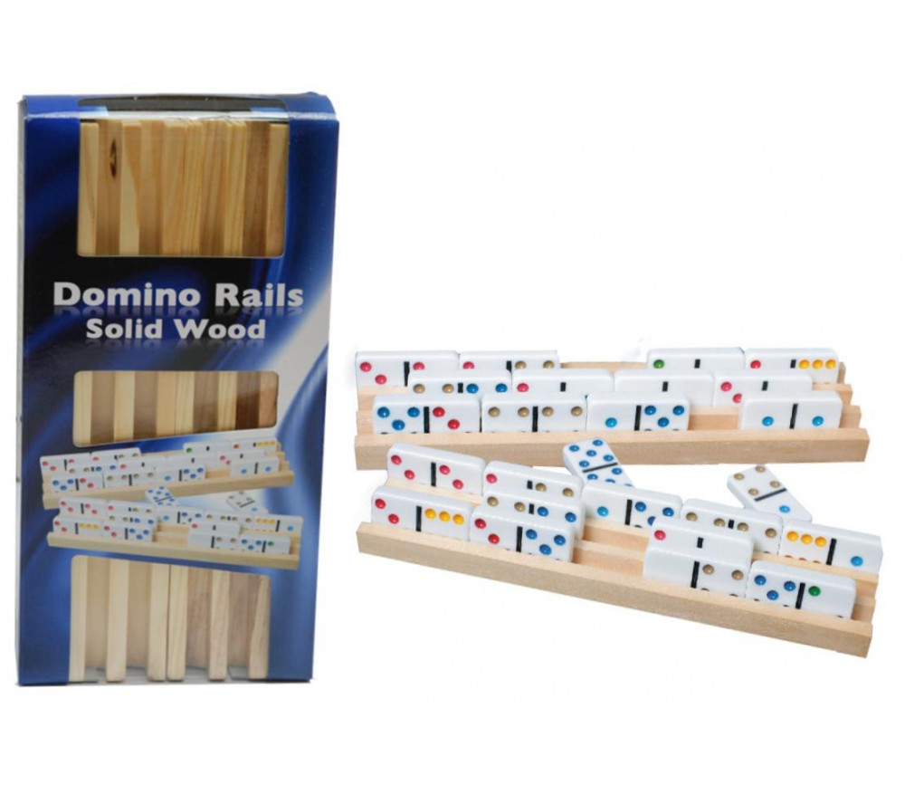 4 Rails Supports en bois domino rummy