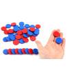 Sachet 50 jetons bicolores bleu et rouge 2,5 cm de diamètre et 5 mm d'épaisseur