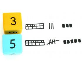 16 dés géants 4.5 cm découverte numération