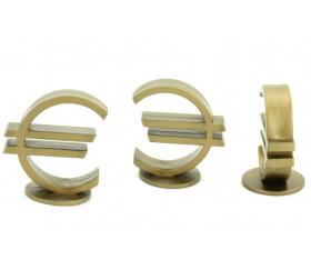Pion euro doré 25 x 39 mm
