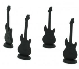 Pion guitare noire 16 x 51 mm