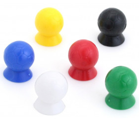 6 Pions ballons de Football 16 x 20 mm