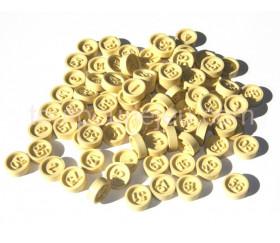 Jetons loto plastique numérotés de 1 à 90
