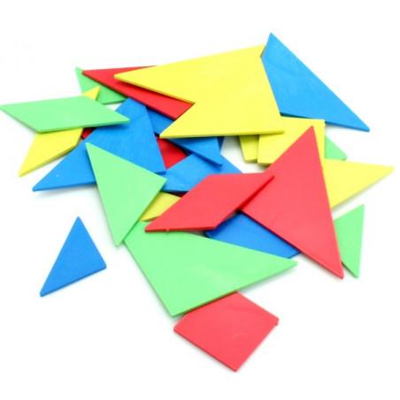 Sachet de 4 tangrams en plastique coloré