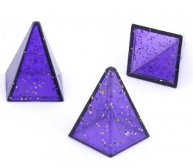 Pions pyramides pailletées 15 x 20 mm de jeu