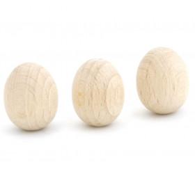 Mini Oeuf en bois naturel 2 cm de haut et 1.5 cm de diamètre