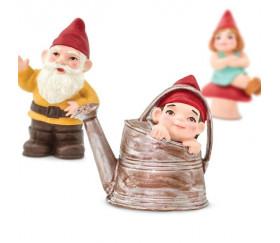 Famille Nain de jardin 6 personnages de jeu gnomes