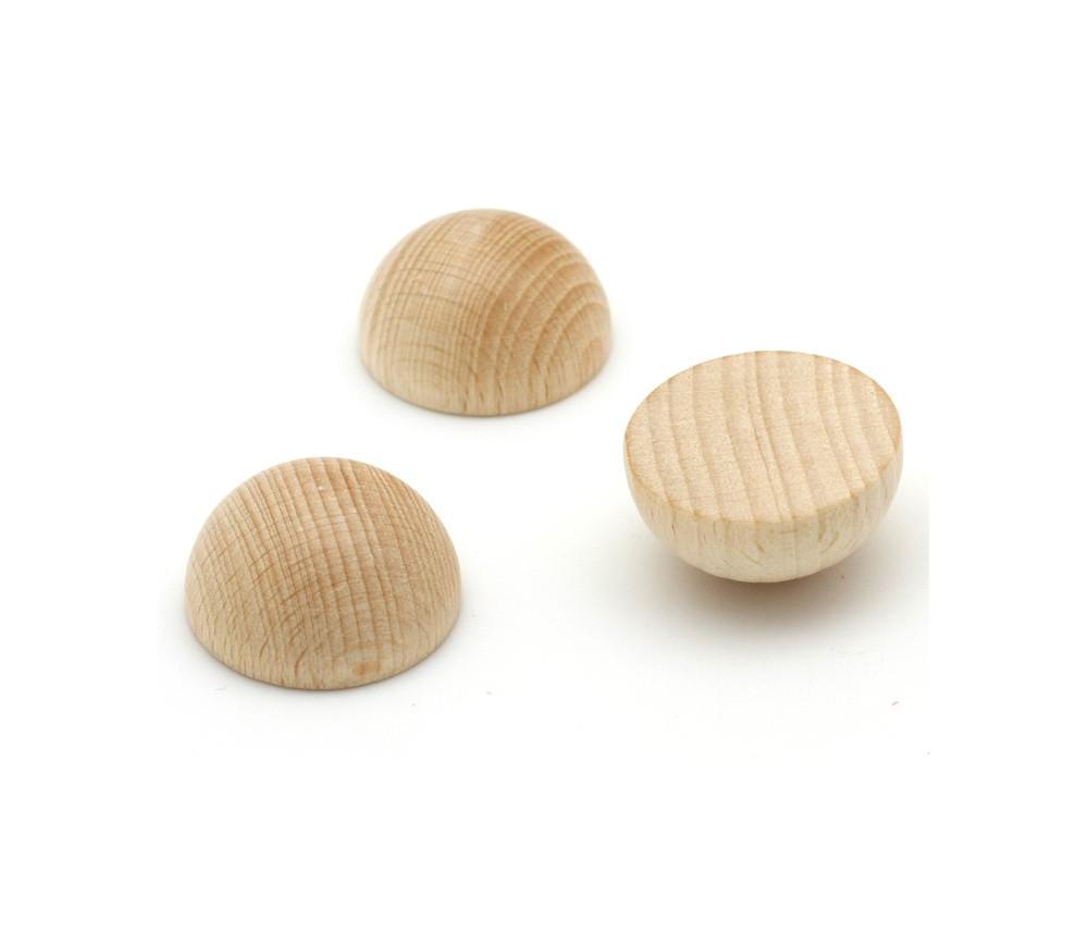 Demi-Boule bois 60 mm diamètre hêtre