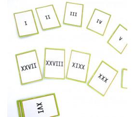 30 cartes chiffres romains de 1 à 30 (I à XXX)