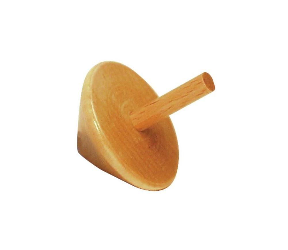 Toupie en bois hêtre pour jeux de société diam 33 mm