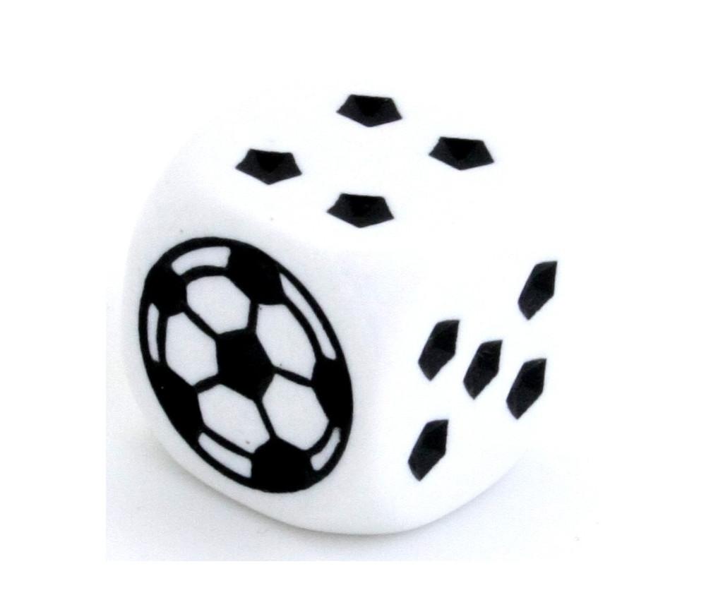 Grand dé à jouer foot 25 mm pour jeu