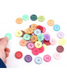 Set de 50 boutons multicolores diamètre 20 mm