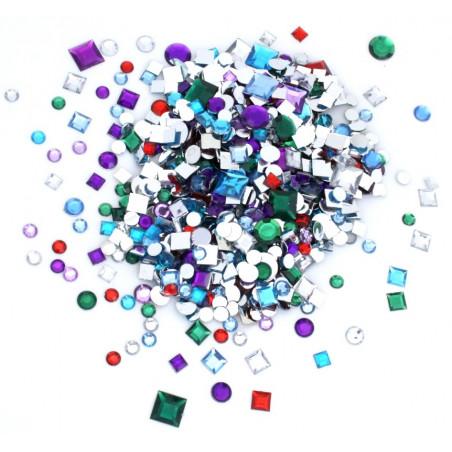 mini formes géométriques métallisés ronds carrés