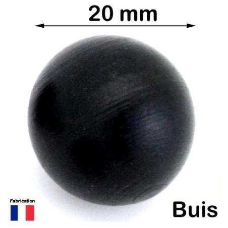 boule buis noir 20 mm