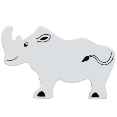Rhinocéros en bois 57 x 90 x 15 mm