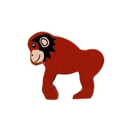Chimpanzé en bois 48 x 53 x 15 mm