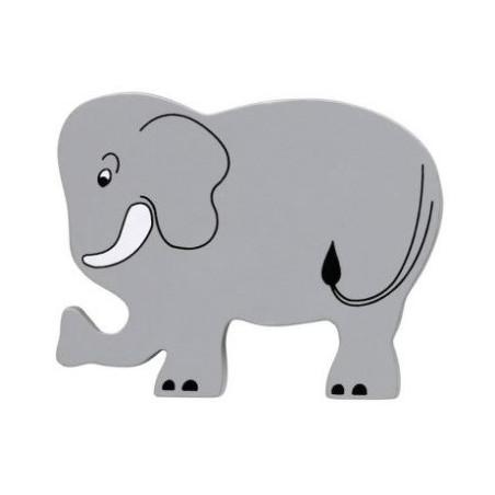 Elephant en bois 71 x 89 x 15 mm